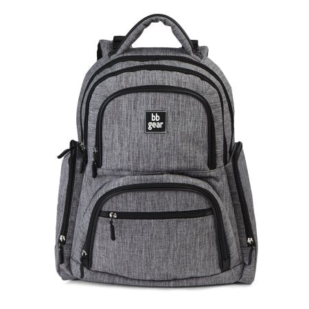 Baby Boom Gear Grey Heather Backpack Diaper Bag