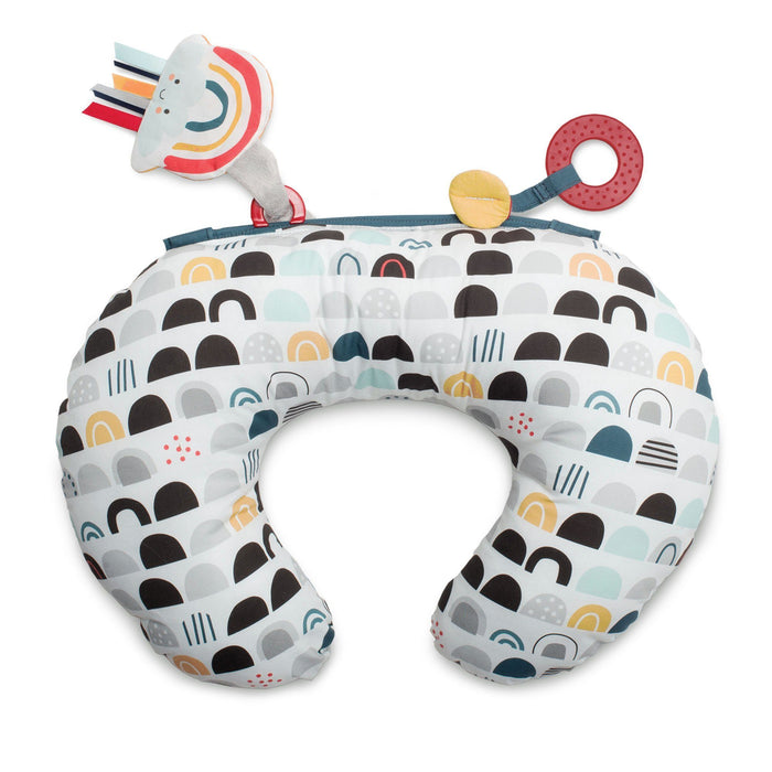 Boppy® Tummy Time Prop - Black and White Rainbows - Preggy Plus