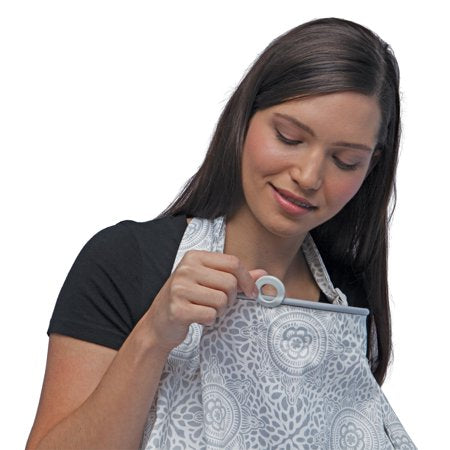 Boppy Nursing Cover - Boho Gray - Preggy Plus