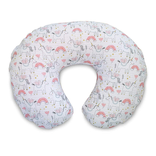 Boppy Classic SLIPCOVER for Nursing Pillows - Pink Unicorns - Preggy Plus