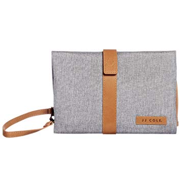 JJ Cole Changing Clutch - Grey Heather with Brown - Preggy Plus