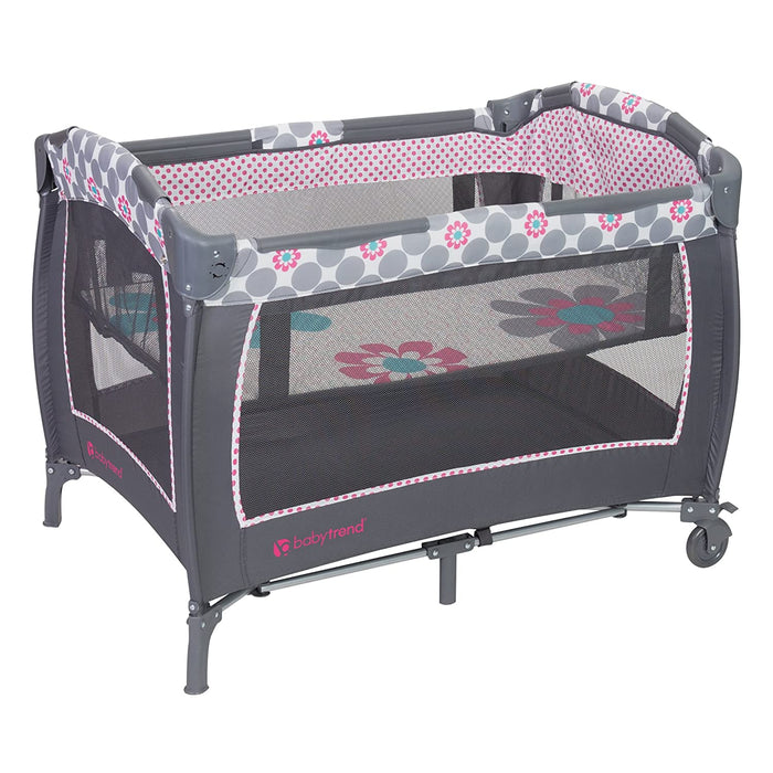 Baby Trend Lil Snooze Deluxe II Nursery Center, Daisy Dots - Preggy Plus
