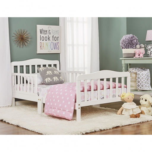 Dream on Me Classic Design Toddler Bed, White (624-W)
