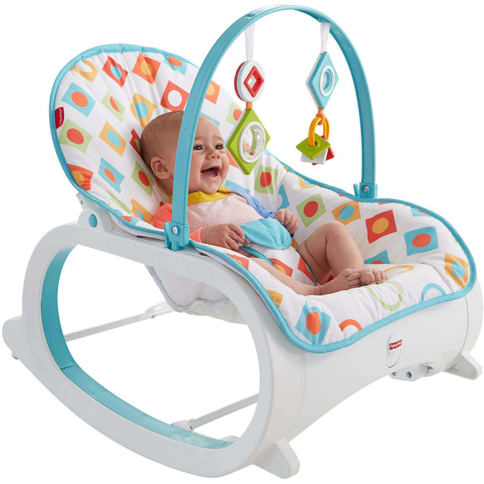 Fisher Price Infant-to-Toddler Rocker - Geo Diamonds - Preggy Plus