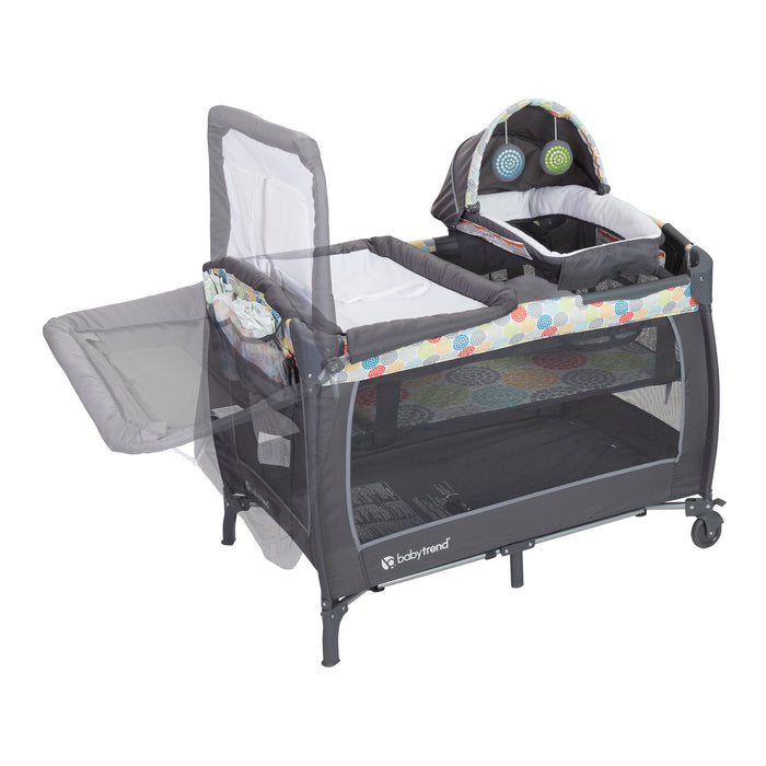 Baby Trend Lil Snooze Deluxe II Nursery Center, Funfetti - Preggy Plus