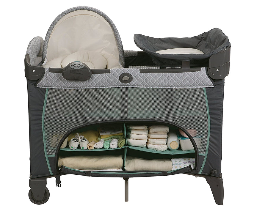 Graco Pack n Play DLX with Newborn Napper, Manor 🎵 (with sound & vibration) - Preggy Plus