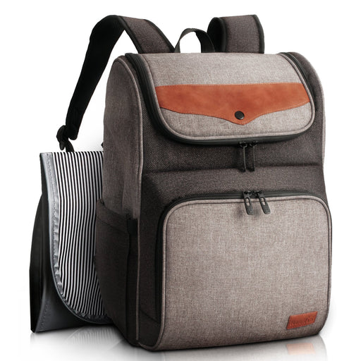 Diaper Bag Backpack - Grey/Brown