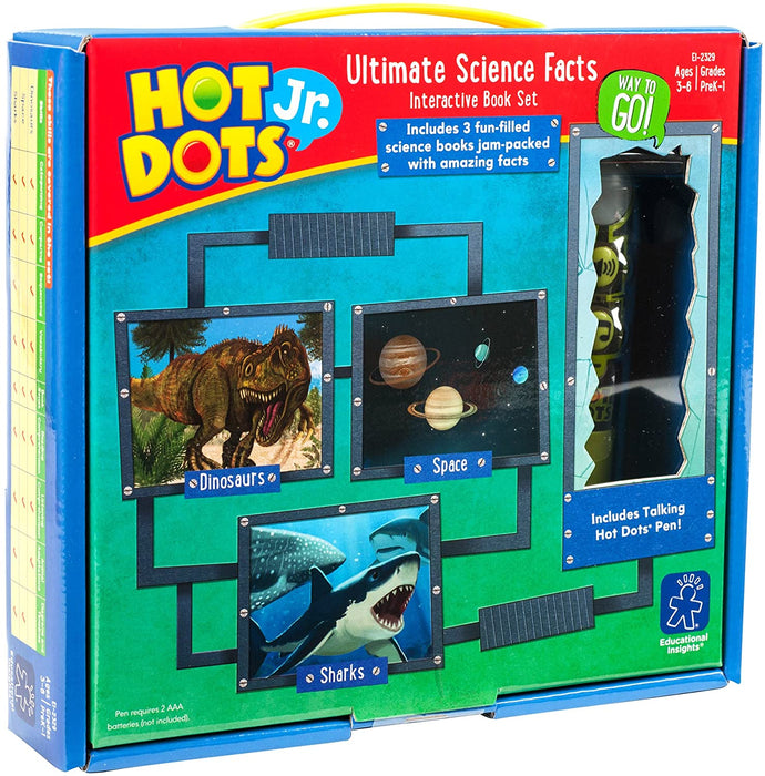 Hot Dots® Jr. Science - 3 Book Set with Ollie—the Talking, Teaching Owl® Pen - Preggy Plus