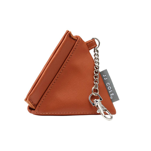 JJ Cole Vegan Leather Pacifier Pyramid, Cognac