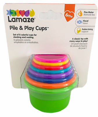 Lamaze Pile and Play Cup Set (colours may vary) - Preggy Plus
