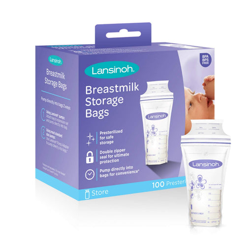 Lansinoh Breastmilk Storage Bags (100ct) - Preggy Plus