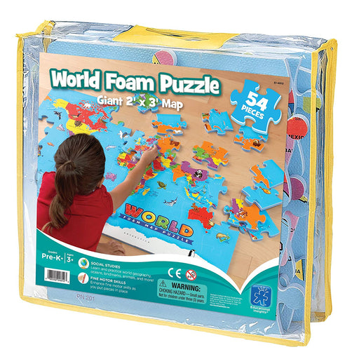Educational Insights World Foam Map Puzzle - Preggy Plus