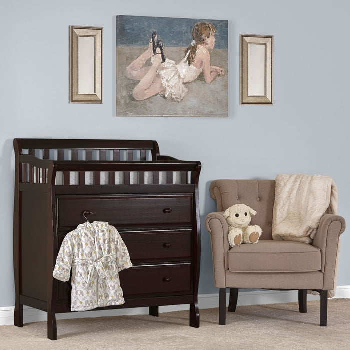 Dream on Me Marcus Changing Table & Dresser, Espresso - Preggy Plus