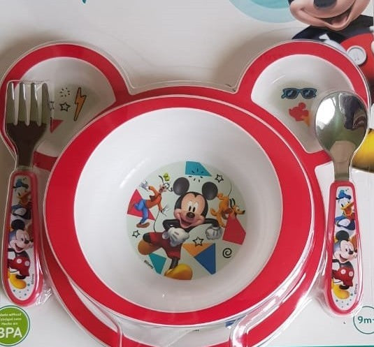 Disney Baby Mickey Mouse 4-Piece Feeding Set - Preggy Plus