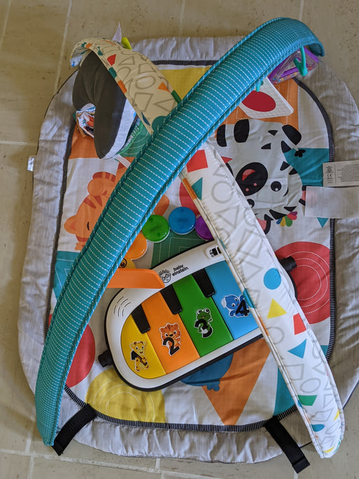 Assembled Baby Einstein 4-in-1 Kickin' Tunes™ Music and Language Discovery Gym without piano legs. - Preggy Plus