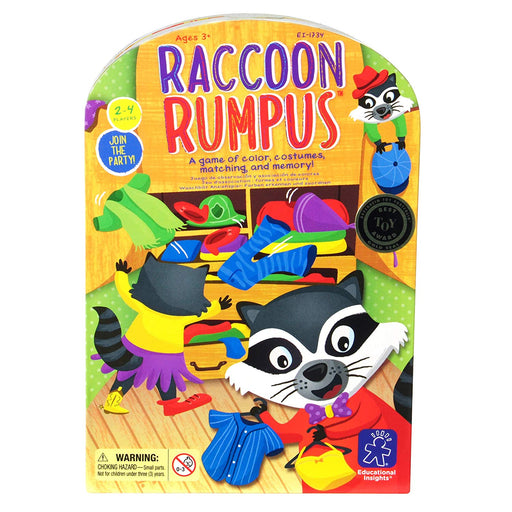 Educational Insights Raccoon Rumpus Matching Board Game - Preggy Plus