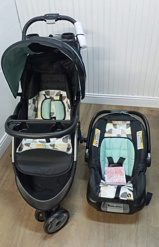 Assembled Baby Trend EZ Ride 35 Travel System, Doodle Dots - Preggy Plus