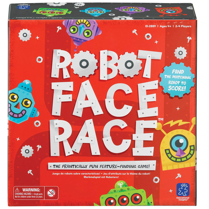 Educational Insights Robot Face Race Board Game - Preggy Plus