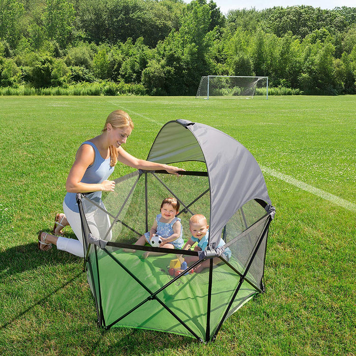 Summer Infant Ultimate Pop n Play Portable Playard (with canopy) - Preggy Plus