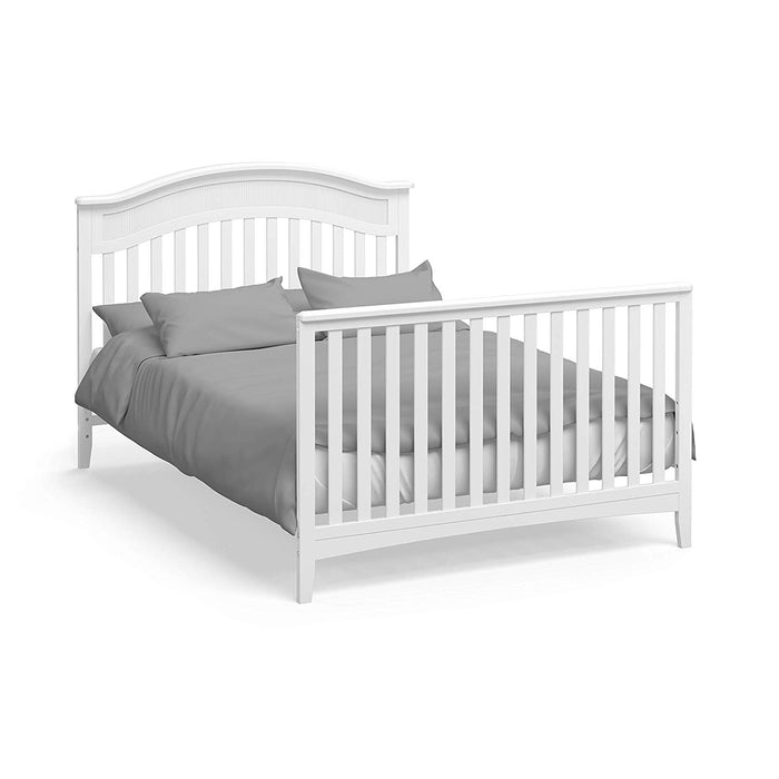 Storkcraft Valley 4 in 1 Convertible Crib, White - Preggy Plus