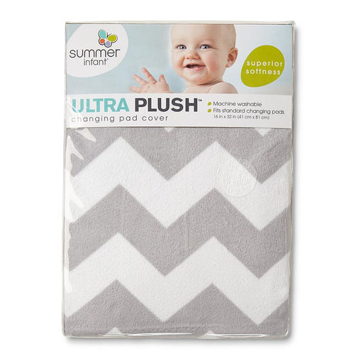 Summer Infant Ultra Plush Changing Pad Cover, Chevron - Preggy Plus