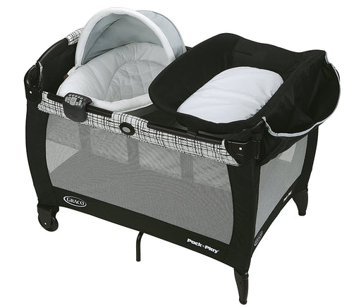 Graco Pack 'n Play Newborn Napper with Soothe Surround Technology Bassinet, Teigen - Preggy Plus