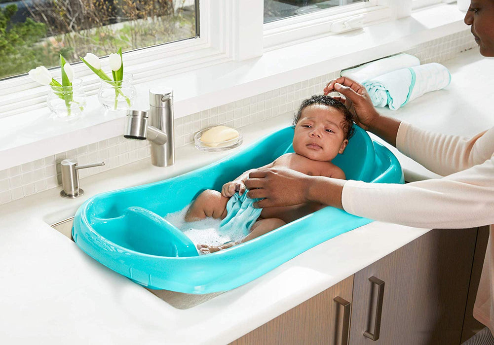 The First Years Sure Comfort Deluxe Newborn To Toddler Tub - Turquoise - Preggy Plus