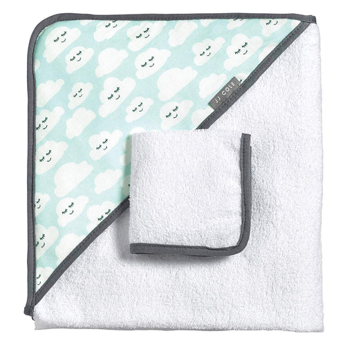 JJ Cole Hooded Towel Set - Clouds - Preggy Plus
