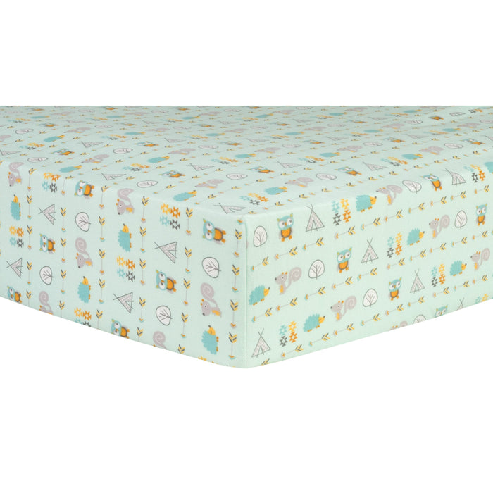 Adventures Deluxe Flannel Fitted Crib Sheet - Preggy Plus