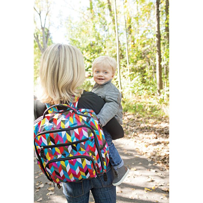 Trend Lab French Bull Backpack Diaper Bag, Ziggy - Preggy Plus