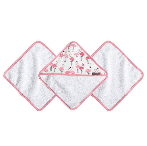 JJ Cole Washcloth Set - Flamingos