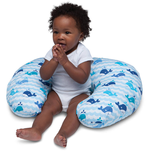 Boppy Nursing Pillow and Positioner - Whale Watch Blue
