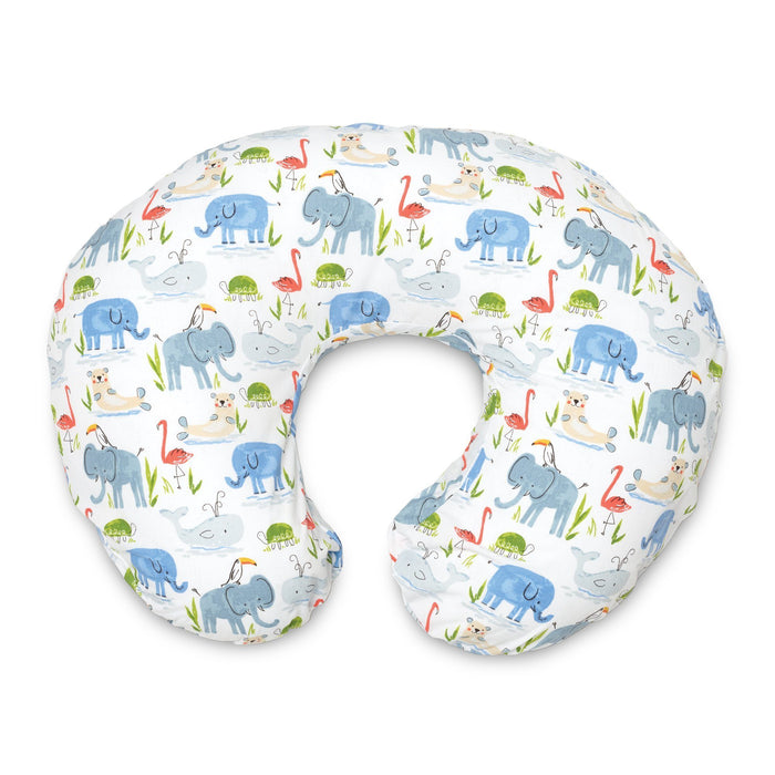 Boppy Classic SLIPCOVER for Nursing Pillows - Watercolor Animals - Preggy Plus
