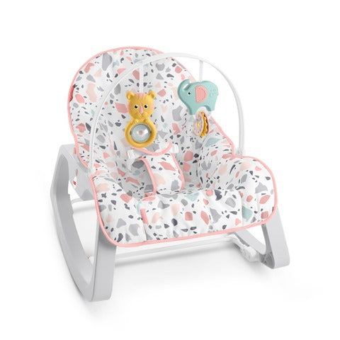 Fisher Price Infant-to-Toddler Rocker - Pink Pacific Pebbles (GNM43) - Preggy Plus
