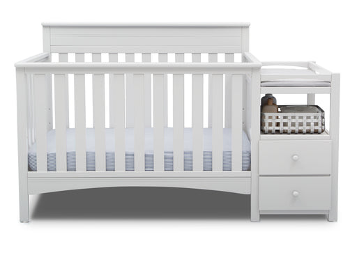 Delta Presley 4-in-1 Convertible Crib and Changer, Bianca White (530260-130) - Preggy Plus