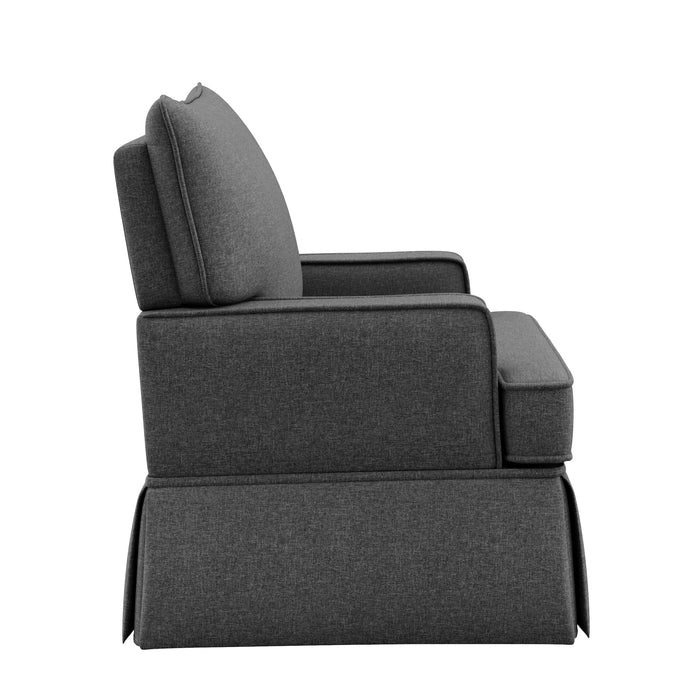 Storkcraft Davenport Upholstered Swivel Glider, Shadow - Preggy Plus