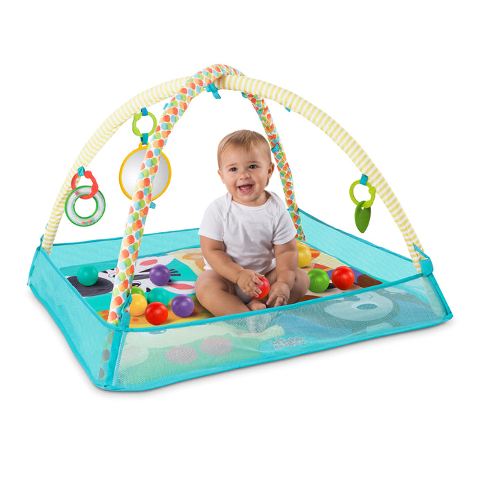 Bright Starts More-in-One Ball Pit Fun Activity Gym - Neutral, Ages Newborn + - Preggy Plus