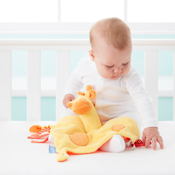Tommee Tippee 3 in 1 Lovey, Soft Security Blanket, Teether and Puppet – Gerry Giraffe, 0+ months - Preggy Plus