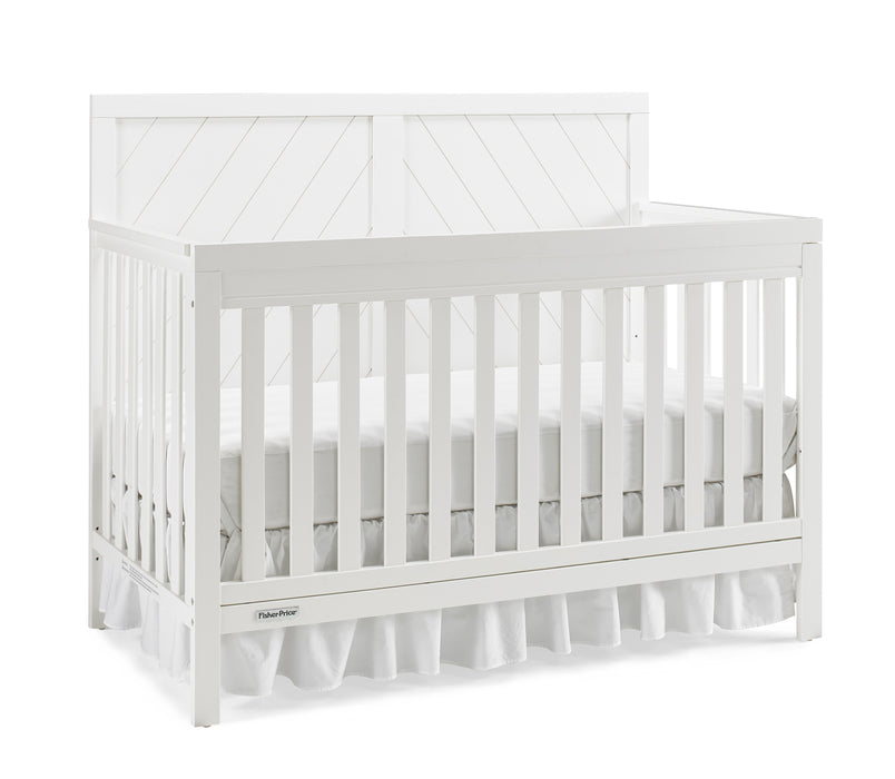 Fisher-Price Buckland 4-in-1 Convertible Crib, Snow White - Preggy Plus
