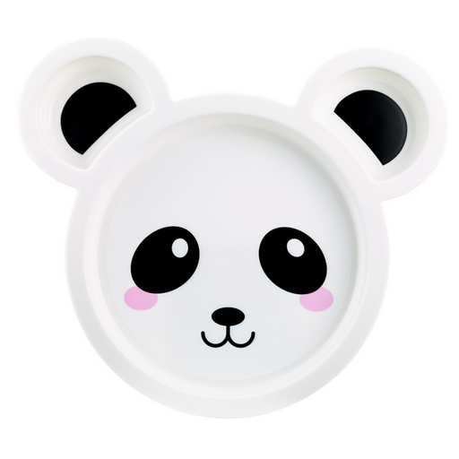 Animal Character Sectioned Plate, 2 Pack - Panda - Preggy Plus