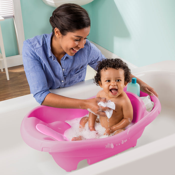 Comfy Clean Deluxe Newborn to Toddler Tub (Pink) - Preggy Plus