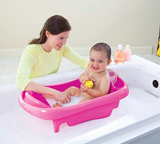 The First Years Sure Comfort Deluxe Newborn To Toddler Tub - Pink - Preggy Plus