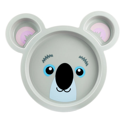 Animal Character Sectioned Plate, 2 Pack - Koala - Preggy Plus