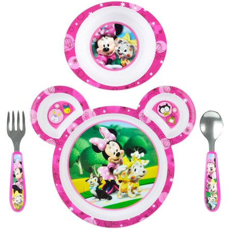 Disney Baby Minnie Mouse 4-Piece Feeding Set