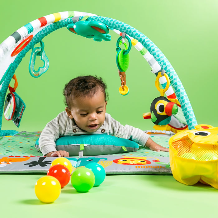 Bright Starts 5-in-1 Your Way Ball Play™ Activity Gym, Green - Preggy Plus