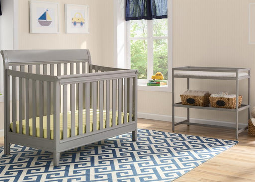 Delta Harbor 2 Piece Crib + Changing Table, Grey - Preggy Plus