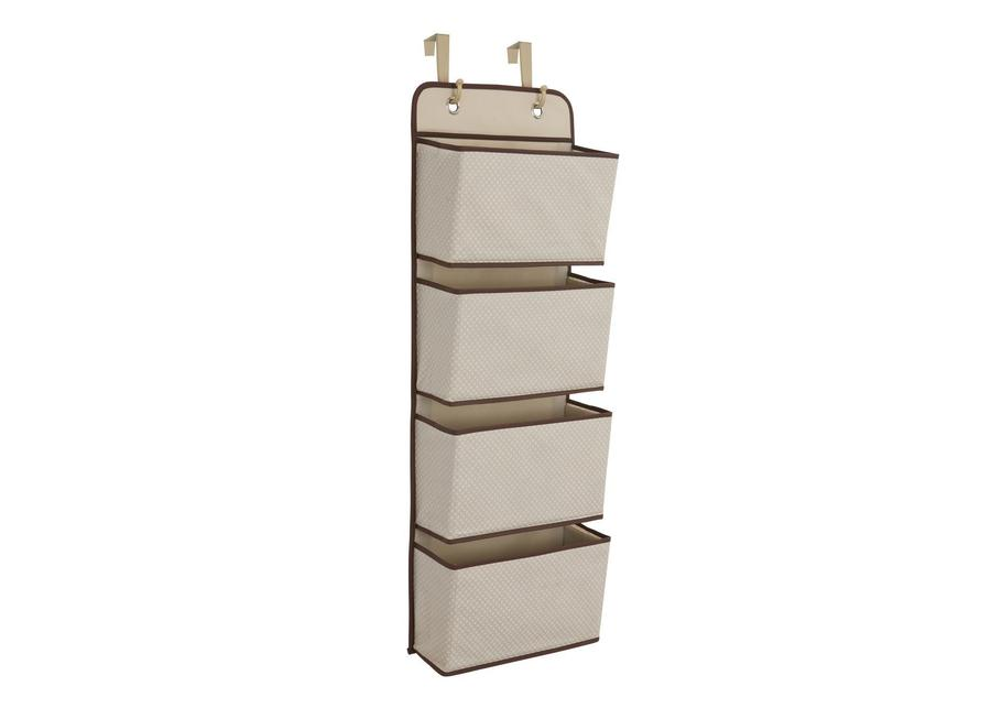 Delta 4-Pocket Hanging Wall Organizer, Beige - Preggy Plus