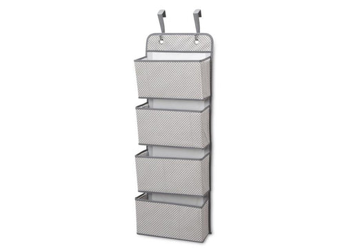 Delta 4-Pocket Hanging Wall Organizer, Cool Grey - Preggy Plus