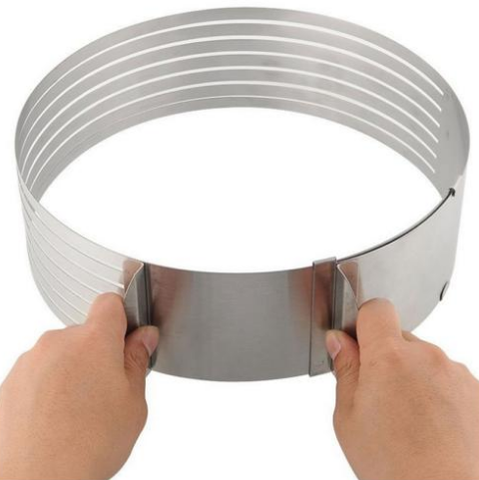 ADJUSTABLE STAINLESS STEEL RING CAKE SLICER - Trendy Outdoor Deals Store