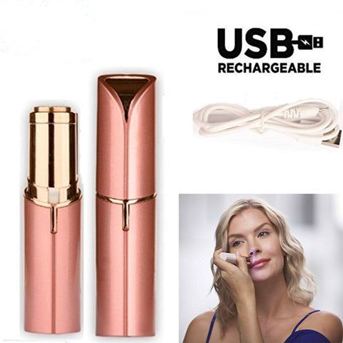 USB Rechargeable Flawless Painless Hair Shaver - Trendy Outdoor Deals Store